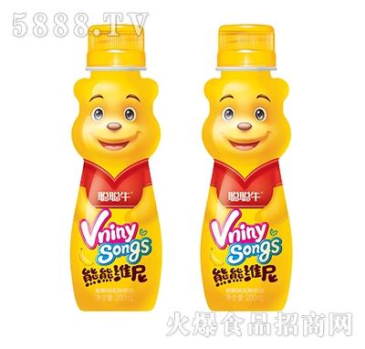 聪聪牛熊熊维尼香蕉味乳味饮品200ml