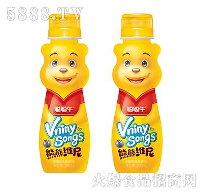 聪聪牛熊熊维尼蓝莓味乳味饮品200ml