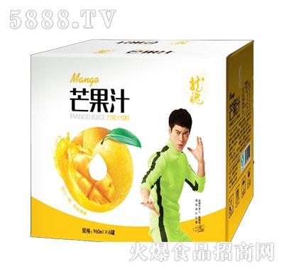 龙魄乳酸菌芒果汁饮料960mlx6罐
