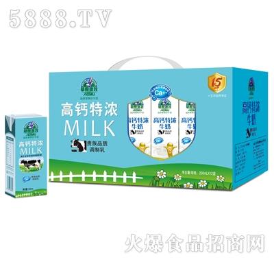 百慧高钙特浓牛奶外箱