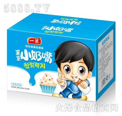 一浓亲亲小奶嘴含乳饮品200mlx24(箱)