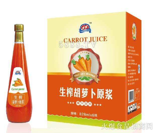 光辉胡萝卜原浆828mlx6瓶产品图