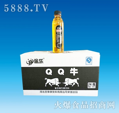 途乐QQ牛复合维生素饮料338ml