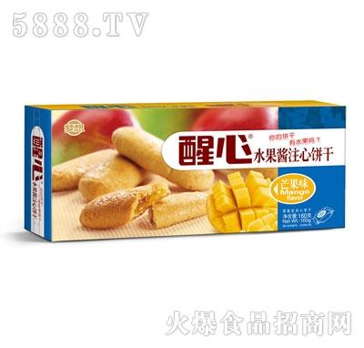 醒心水果酱注心曲奇饼干芒果味160g
