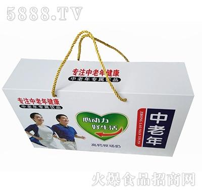 中老年高钙牧场奶(仿木)礼盒