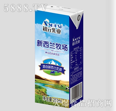 初元乳业新西兰牧场养生奶250ml