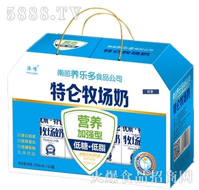 浓情特仑牧场奶250mlx12盒