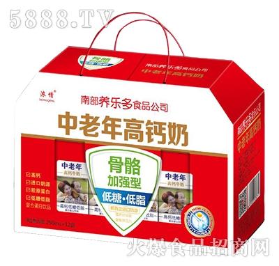 中老年高钙牧场奶礼盒250ml×12盒