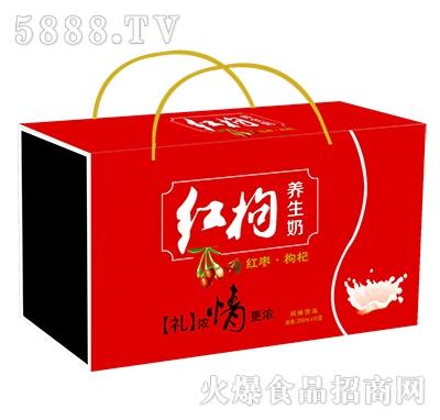 1x12盒红枸养生奶(仿木)礼盒