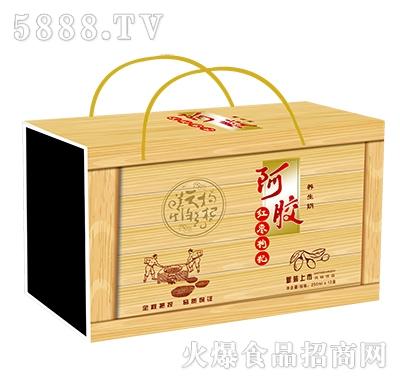 1x12盒阿胶红枣枸杞养生奶(木纹)礼盒