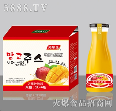 美格丝芒果汁饮料1LX6瓶