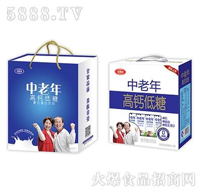 百事利中老年高钙低糖蛋白饮品250mlx12盒