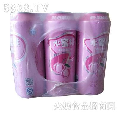 水蜜桃果味碳酸饮料500ml九罐装