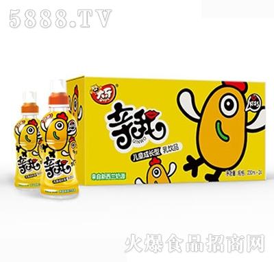 大牙亲我奶嘴儿童成长型乳饮品230mlx24瓶黄