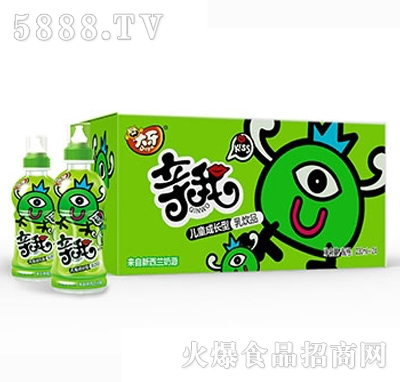 大牙亲我奶嘴儿童成长型乳饮品230mlx24瓶绿
