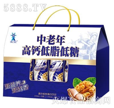 麦夏中老年高钙低脂低糖蛋白饮品礼盒