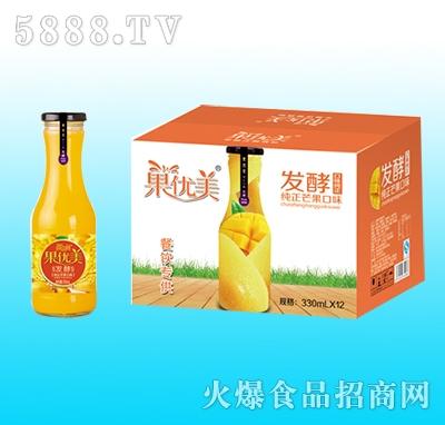 果优美益生菌发酵芒果汁330mlx12瓶
