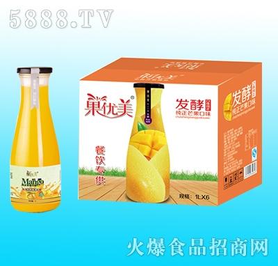 果优美益生菌发酵芒果汁1Lx6瓶