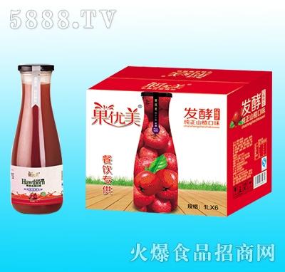 果优美益生菌发酵山楂汁1Lx6瓶