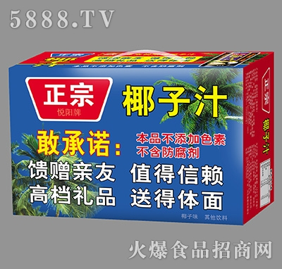 悦阳正宗椰子汁箱装