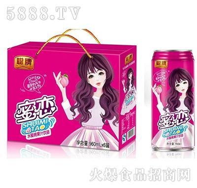 聪牌蜜恋水蜜桃果汁饮品960mlx6罐