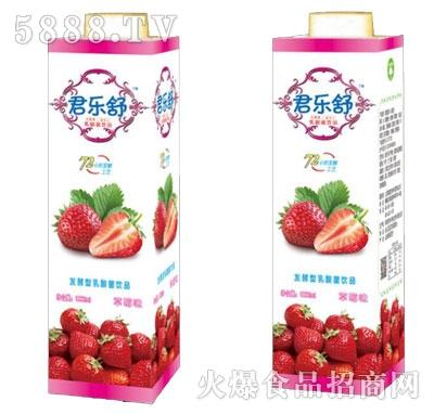君乐舒发酵型乳酸菌饮品草莓味1000ml