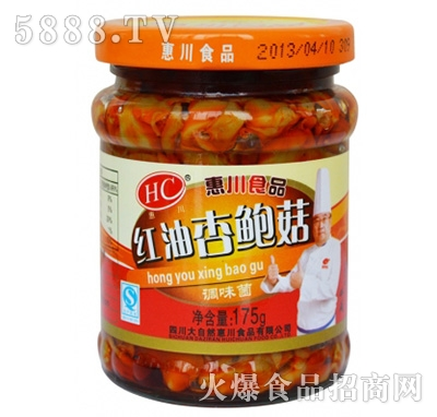 惠川175克红油杏鲍菇产品图