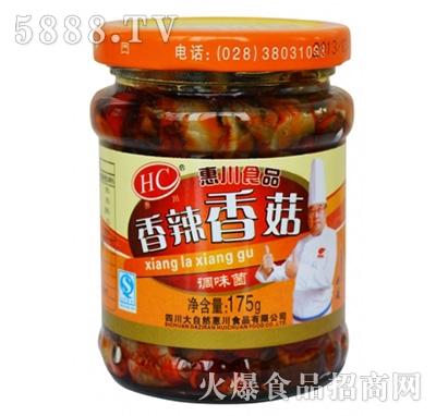 惠川175克香辣香菇产品图
