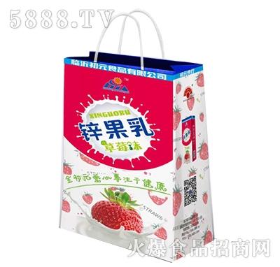 初元食品锌果乳草莓味手提袋