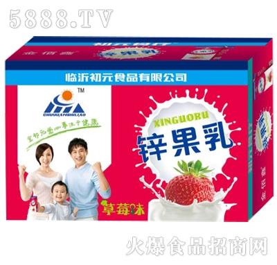 初元食品锌果乳草莓味箱装