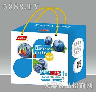 美格丝蓝莓枸杞汁饮料1Lx8瓶