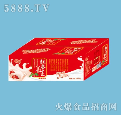 欣八喜红枣养生果味饮品200mlx18包