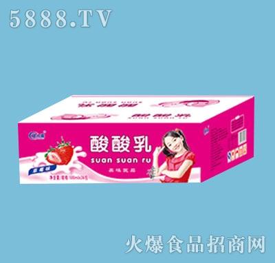 欣八喜酸酸乳草莓味200mlx18包