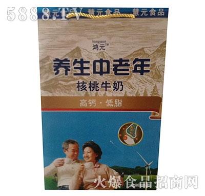 鸿元养生中老年核桃牛奶礼品袋