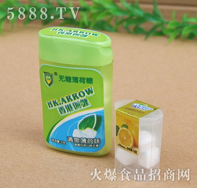 香港创健清淡薄荷味口香糖