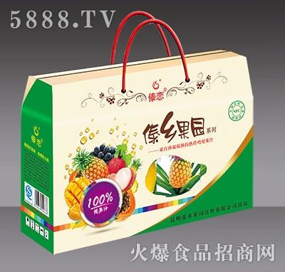 新版4盒装傣乡果园纯果汁-正面开窗