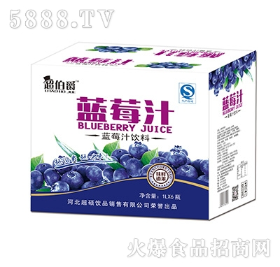 超伯爵蓝莓汁饮料1Lx6瓶