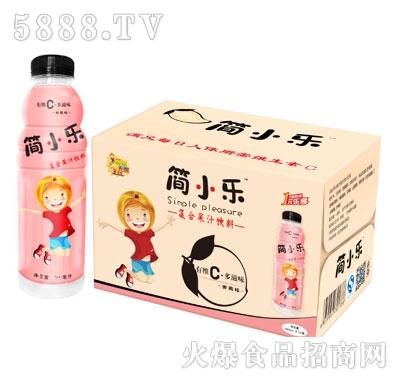 500mlx15瓶简小乐复合果汁饮料(蜜桃味)