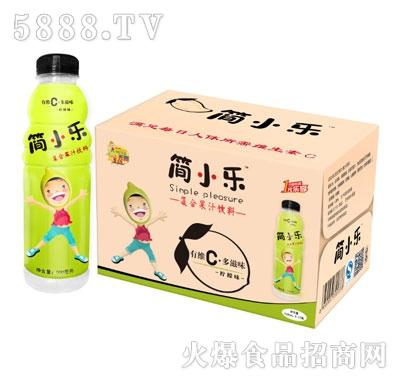 500mlx15瓶简小乐复合果汁饮料(柠檬味)