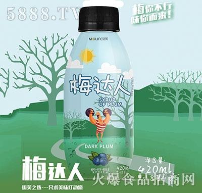 梅达人蓝莓复合果汁420ml