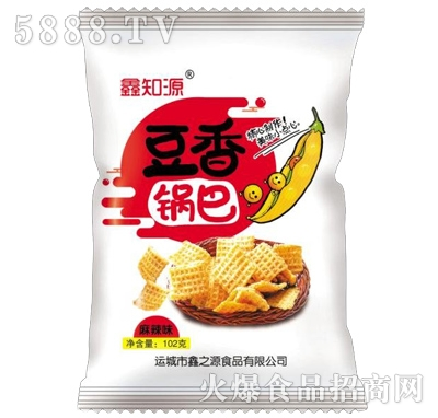 鑫知源豆香锅巴麻辣味102g(白)