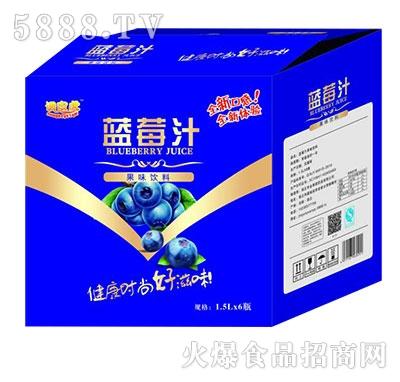 调皮虎蓝莓汁1.5Lx6瓶