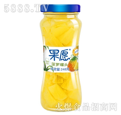 【果愿】菠萝罐头 248g