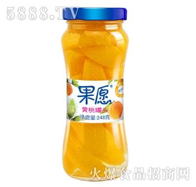 【果愿】黄桃罐头 248g