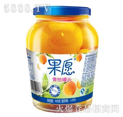 【果愿】黄桃罐头 900g