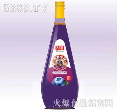 天合露硕果小镇蓝莓汁玻璃瓶