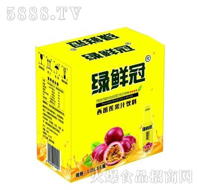 绿鲜冠西番莲果汁饮料1.25Lx6瓶