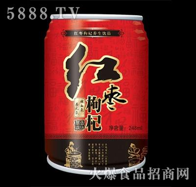 舒乐美红枣枸杞养生饮品罐装248ml