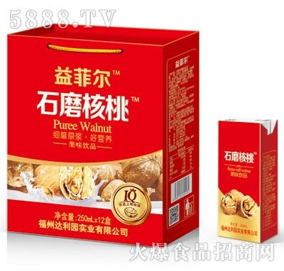 益菲尔石磨核桃果味饮品250mlX12盒