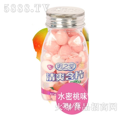 明之堂清爽含片水蜜桃味38g